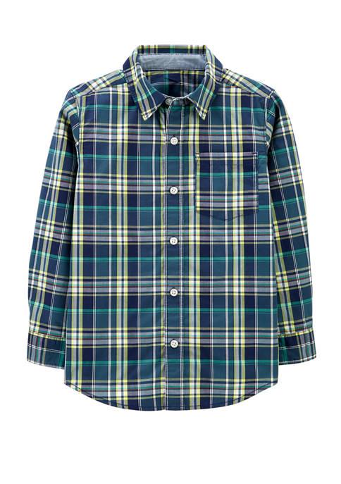 Carter's® Boys 4-7 Plaid Poplin Button Front Shirt
