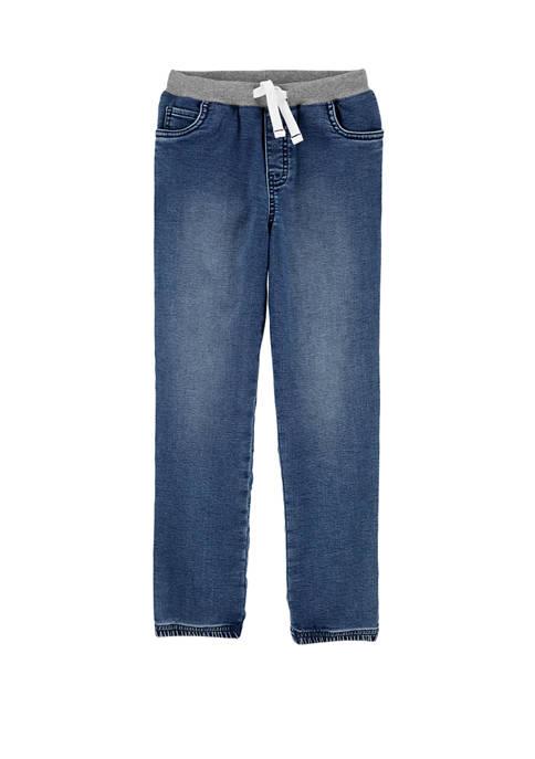 Carter's® Boys 4-7 Pull On Knit Denim Joggers