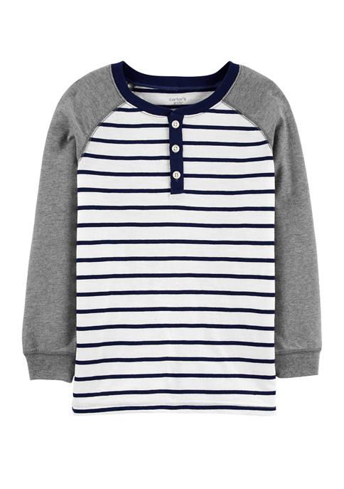 Carter's® Boys 4-7 Striped Slub Henley T-shirt