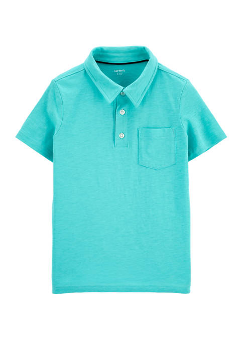 Carter's® Boys 4-7 Short Sleeve Knit Polo Shirt
