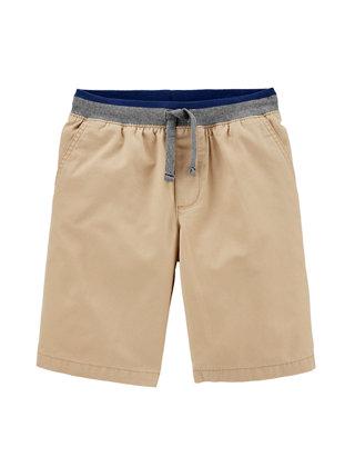 Carters Little Boys Pull-On Twill Shorts 4 Khaki