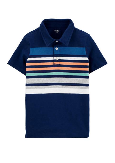Carter's® Boys 4-7 Striped Slub Jersey Polo Shirt