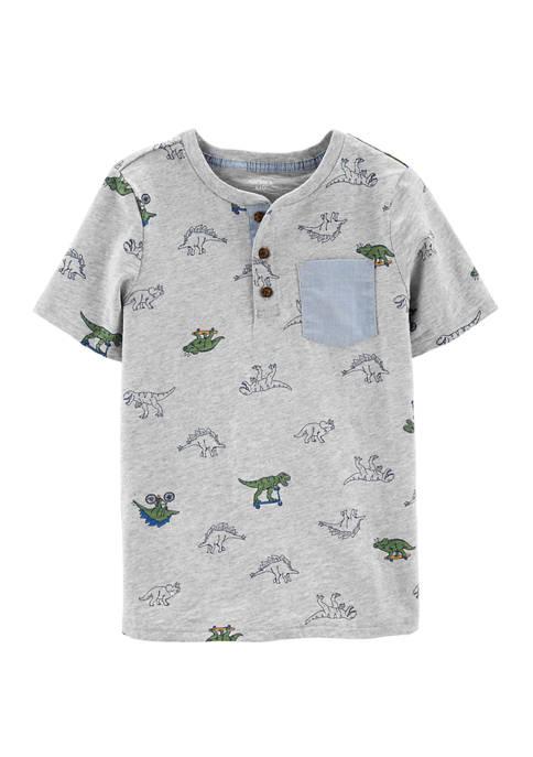 Carter S 174 Boys 4 7 Dinosaur Print Pocket T Shirt Belk