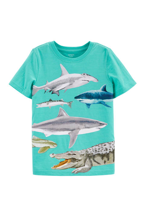 Carter's® Boys 4-7 Shark Snow Yarn Jersey Graphic