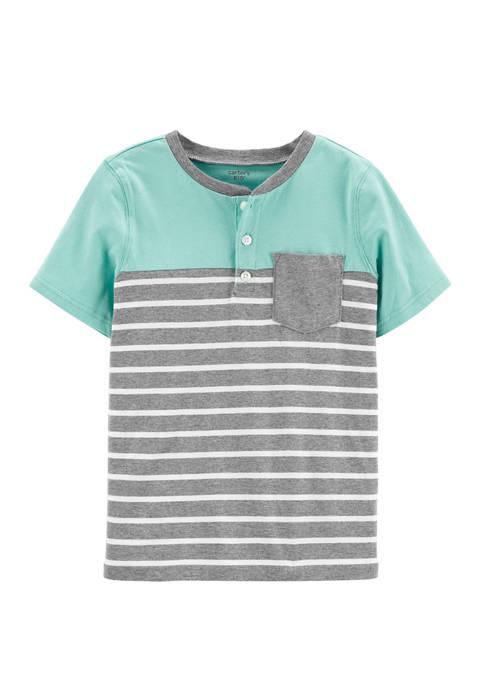 Carter's® Boys 4-7 Striped Pocket Henley T-Shirt