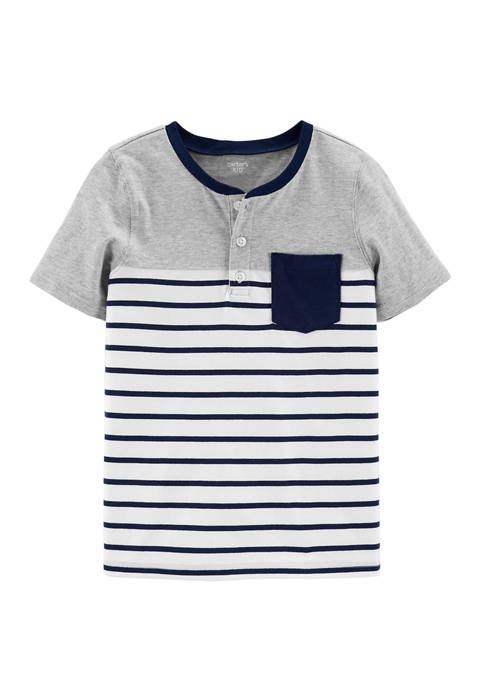 Carter's® Boys 4-7 Short Sleeve Pocket Knit Top