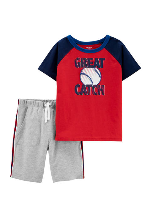 Carter's® Boys 4-7 2 Piece Great Catch Jersey