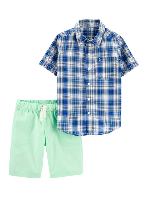 Carter's® Boys 4-7 2 Piece Plaid Button Front