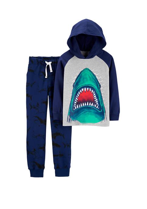 Carter's® Boys 4-7 2-Piece Shark Hooded T-Shirt and