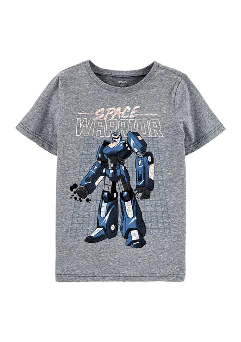 Boys 4-7 Robot Snow Yarn T-Shirt