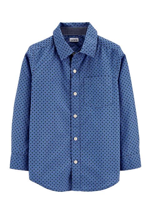 Carter's® Boys 4-7 Poplin Button Front Shirt
