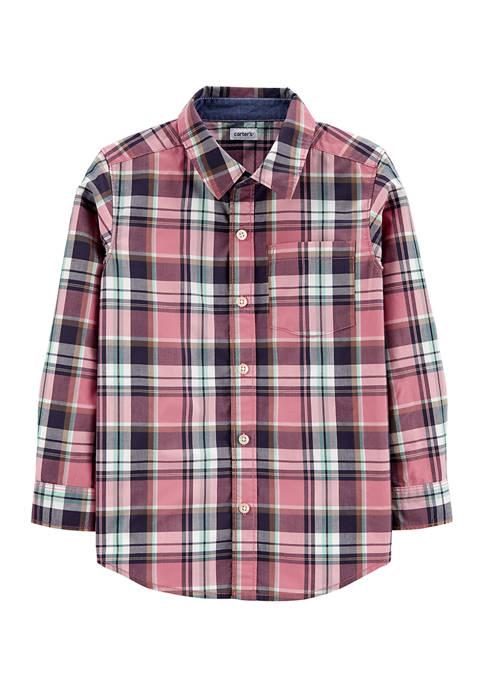 Carter's® Boys 4-7 Plaid Poplin Button-Front Shirt