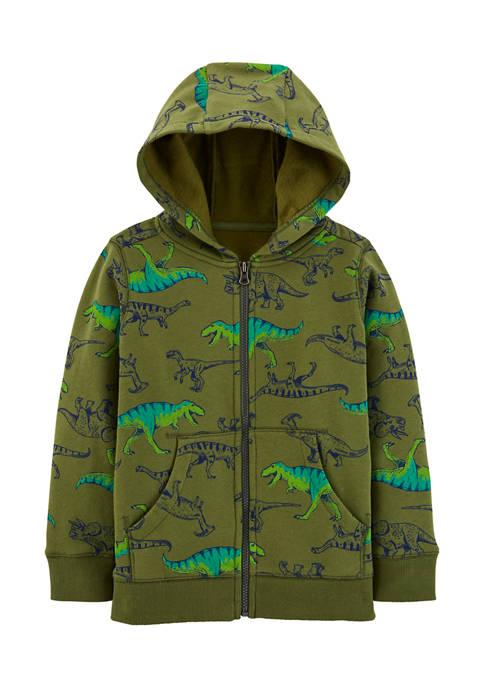 Carter's® Boys 4-7 Dinosaur Zip-Up Fleece-Lined