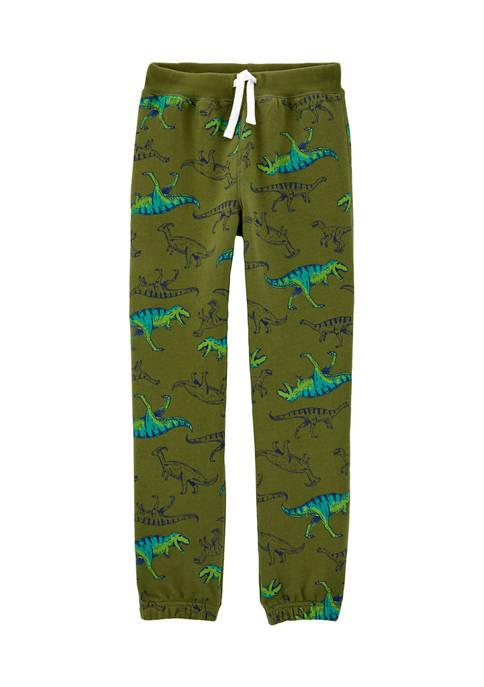 Carter's® Boys 4-7 Dinosaur Pull-On Fleece Pants