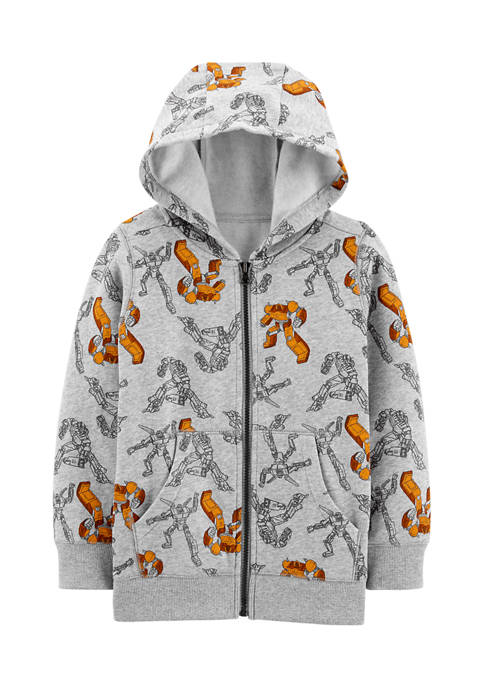 Carter's® Boys 4-7 Robot Zip-Up Fleece-Lined Hoodie