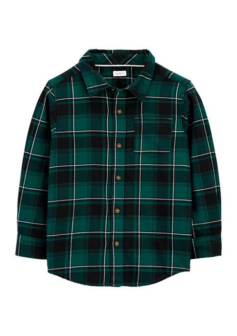 Carter's® Boys 4-7 Green Plaid Woven Shirt