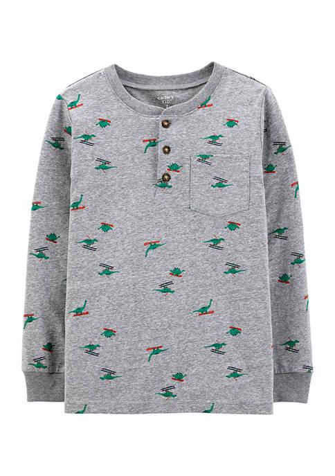 Carter's® Boys 4-7 Holiday Print Henley Shirt