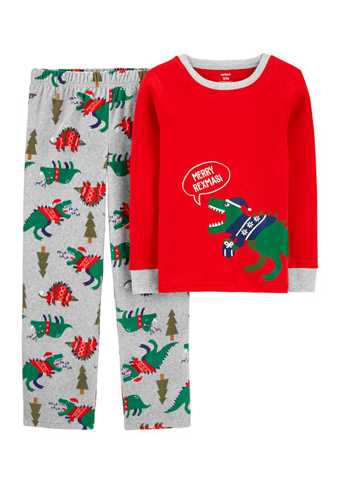Carter's® Boys 4-20 2 Piece Dinosaur Christmas Fleece
