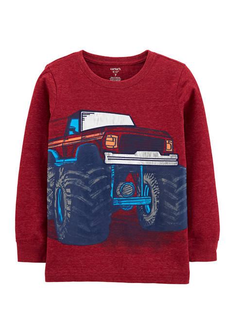 Carter's® Toddler Boys Foil Monster Truck Graphic Shirt