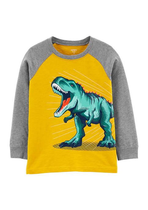 Boys 4-7 Yellow Dino Tee