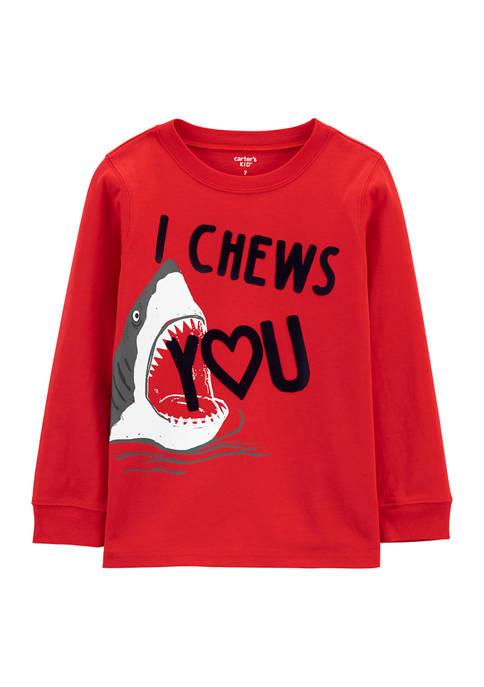 Carter's® Boys 4-7 Valentines Day Shark Jersey T-Shirt