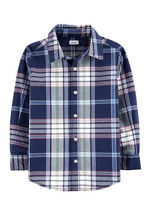 Carter's® Boys 4-7 Navy Plaid Shirt