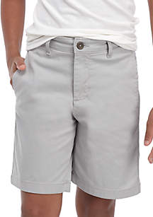 Flex Waist Preppy Flat Front Twill Shorts Boys 8-20