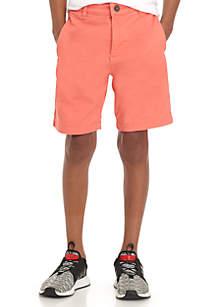 Boys 8-20 Flex Waist Twill Flat Front Shorts