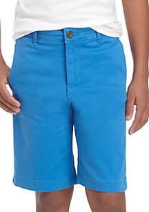 Boys 8-20 Flex Waist Flat Front Twill Shorts