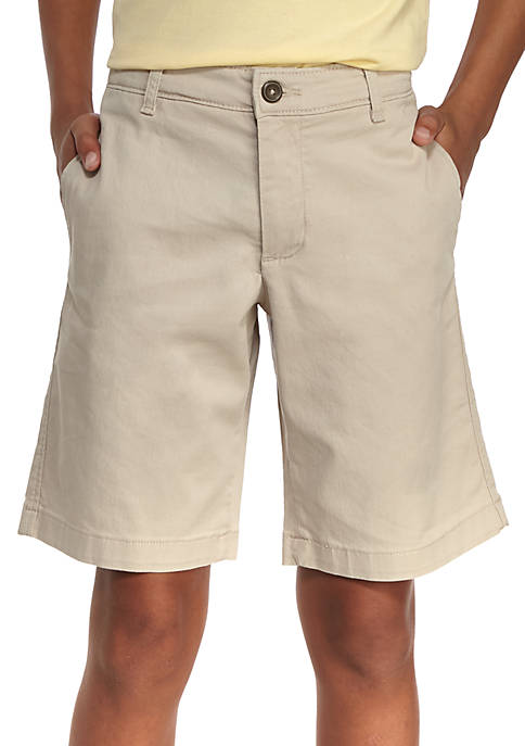 Crown & Ivy™ Stretch Twill Flat Front Shorts