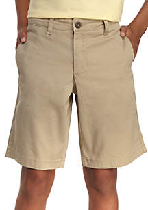 1ed9c6cc3d ... Crown & Ivy™ Stretch Twill Flat Front Shorts Boys 8-20 Husky