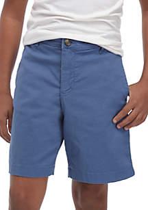 Boys 8-20 Husky Flex Waist Preppy Twill Shorts