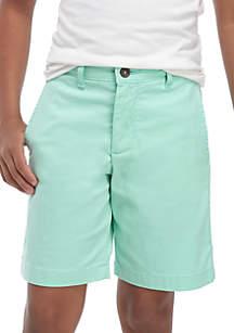 Crown & Ivy™ Husky Boys 8-20 Flex Waist Preppy Flat Front Twill Shorts