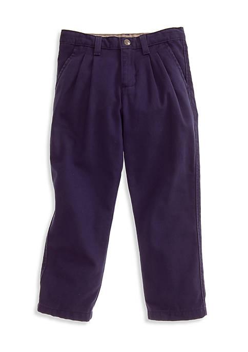 Pleated Twill Pant Boys 4-7