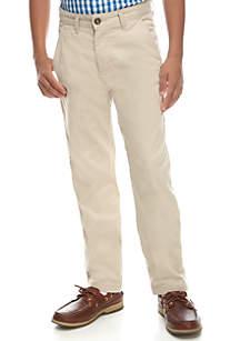 Flat Front Basic Stretch Slim Soho Stone Pant Boys 8-20