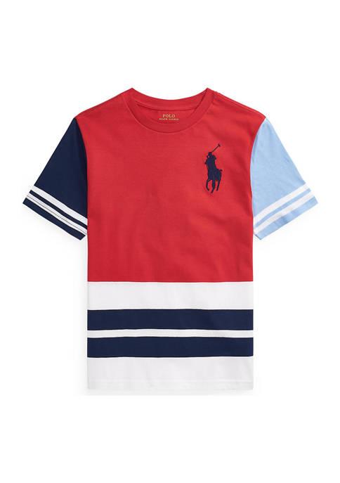 Ralph Lauren Childrenswear Boys 8-20 Color Blocked Cotton