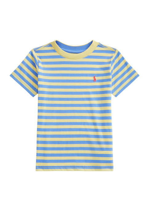 Boys 4-7 Striped Cotton Blend Jersey T-Shirt