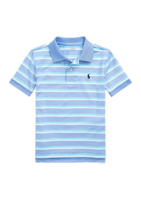 Boys 4-7 Striped Performance Jersey Polo Shirt