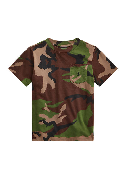 Ralph Lauren Childrenswear Boys 4-7 Camo Cotton Jersey