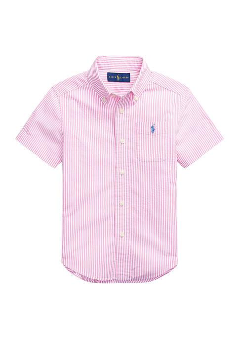 Ralph Lauren Childrenswear Boys 4-7 Striped Cotton Seersucker