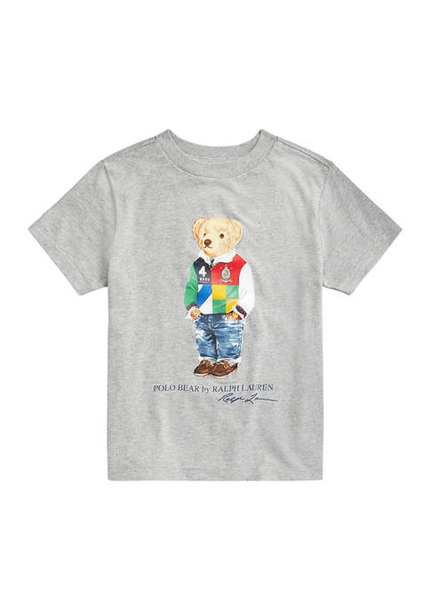 Ralph Lauren Childrenswear Boys 4-7 Polo Bear Cotton