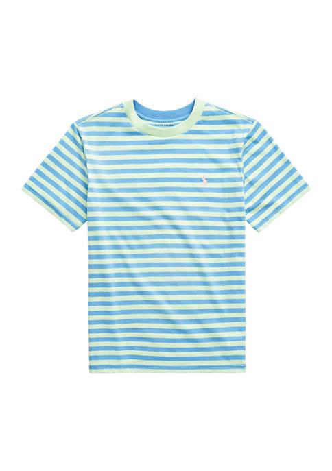 Boys 8-20 Striped Cotton-Blend Jersey Tee