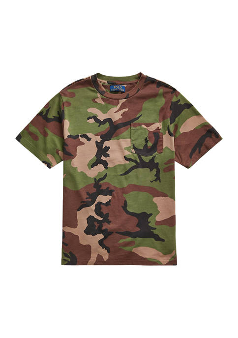 Ralph Lauren Childrenswear Boys 8-20 Camo Cotton Jersey