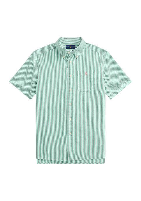 Ralph Lauren Childrenswear Boys 8-20 Striped Cotton Seersucker
