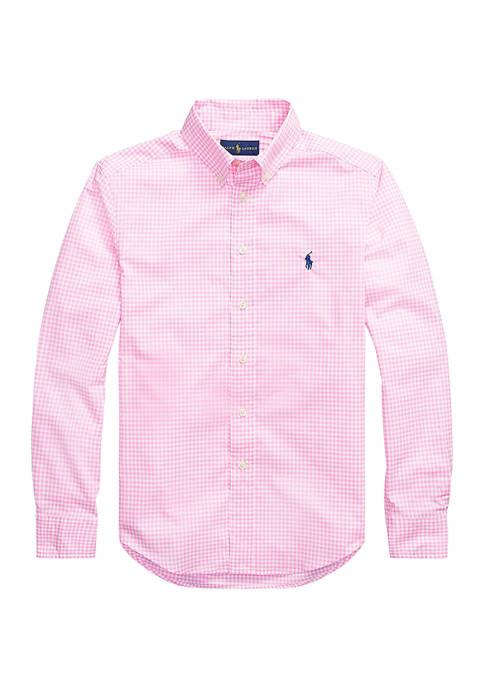 Boys 8-20 Gingham Cotton Poplin Shirt