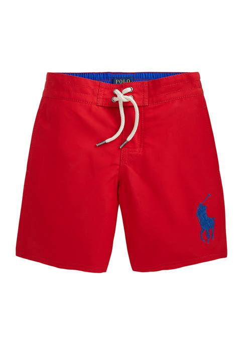 Ralph Lauren Childrenswear Boys 4-7 Big Pony Swim