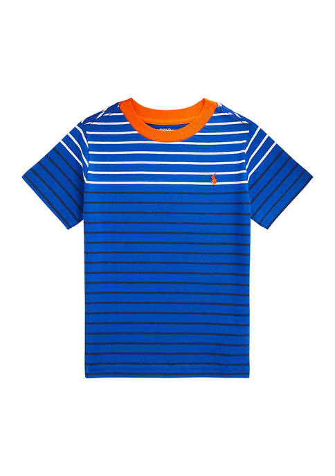 Ralph Lauren Childrenswear Boys 4-7 Striped Cotton Jersey