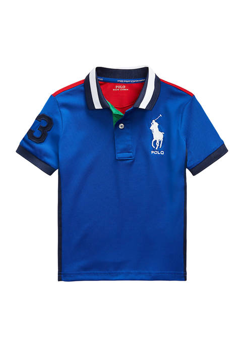 Boys 4-7 Performance Stretch Mesh Polo Shirt
