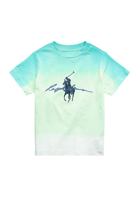 Ralph Lauren Childrenswear Boys 4-7 Dip-Dyed Cotton Jersey
