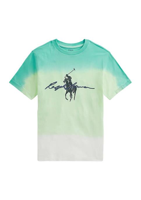 Ralph Lauren Childrenswear Boys 8-20 Dip-Dyed Cotton Jersey
